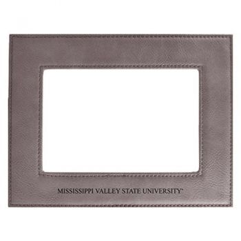 Mississippi Valley State University-Velour Picture Frame 4x6-Grey