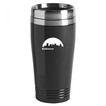 16 oz Stainless Steel Insulated Tumbler - Baltimore City Skyline