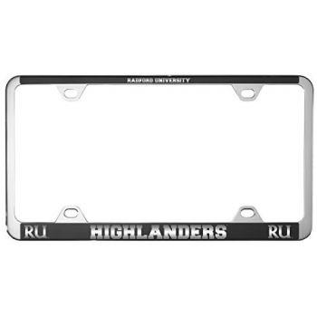 Radford University -Metal License Plate Frame-Black