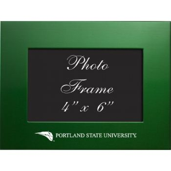 Portland State University - 4x6 Brushed Metal Picture Frame - Green