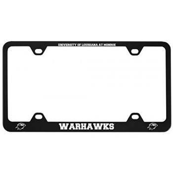 University of Louisiana at Monroe-Metal License Plate Frame-Black