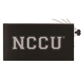 8000 mAh Portable Cell Phone Charger-North Carolina Central University -Black