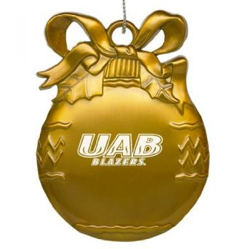 University of Alabama at Birmingham - Pewter Christmas Tree Ornament - Gold