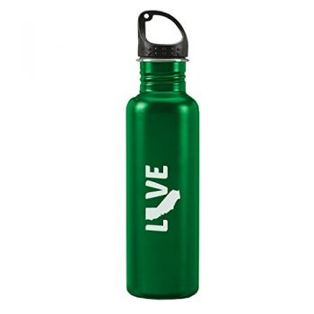 California-State Outline-Love-24-ounce Sport Water Bottle-Green