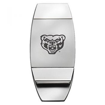 Oakland University - Two-Toned Money Clip - Silver