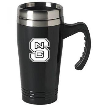 North Carolina State University-16 oz. Stainless Steel Mug-Black