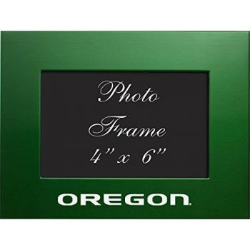 University of Oregon - 4x6 Brushed Metal Picture Frame - Green