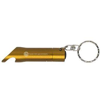Prairie View A&M University - LED Flashlight Bottle Opener Keychain - Gold