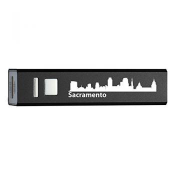Quick Charge Portable Power Bank 2600 mAh - Sacramento City Skyline