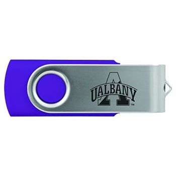 University of Albany-8GB 2.0 USB Flash Drive-Purple