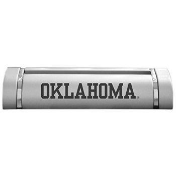 University of Oklahoma-Desk Business Card Holder -Silver