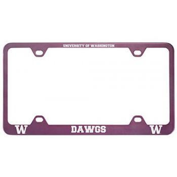 University of Washington-Metal License Plate Frame-Pink