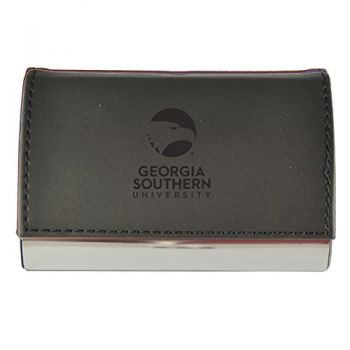 Velour Business Cardholder-Georgia Southern University-Black