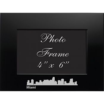 4 x 6  Metal Picture Frame - Miami City Skyline