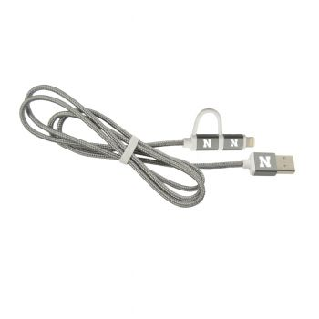 University of Nebraska-MFI Approved 2 in 1 Charging Cable