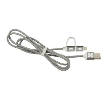 University of Michigan -MFI Approved 2 in 1 Charging Cable