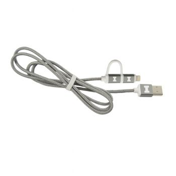 University of Illinois-MFI Approved 2 in 1 Charging Cable