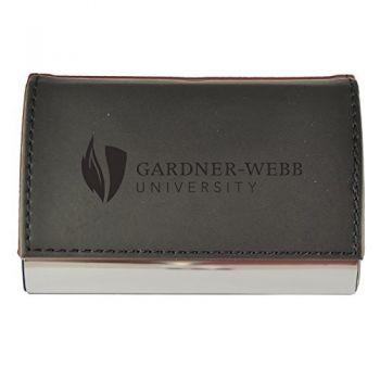Velour Business Cardholder-Gardner-Webb University-Black