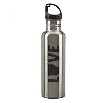 Arkansas-State Outline-Love-24-ounce Sport Water Bottle-Silver