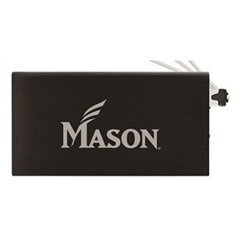 8000 mAh Portable Cell Phone Charger-George Mason University -Black