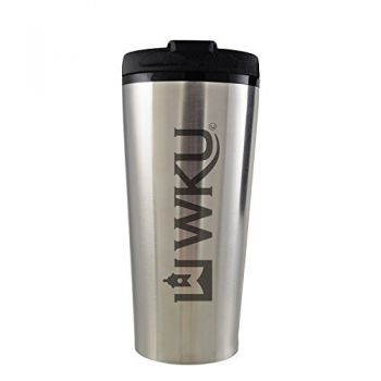 Western Kentucky University -16 oz. Travel Mug Tumbler-Silver