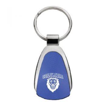 Columbia University - Teardrop Keychain - Blue