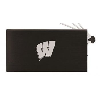 8000 mAh Portable Cell Phone Charger-University of Wisconsin -Black