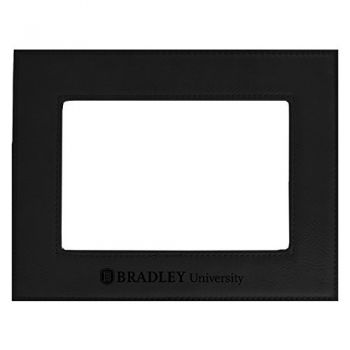 Bradley University-Velour Picture Frame 4x6-Black
