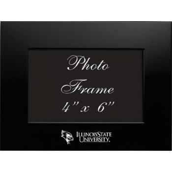 Illinois State University - 4x6 Brushed Metal Picture Frame - Black