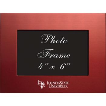 Illinois State University - 4x6 Brushed Metal Picture Frame - Red