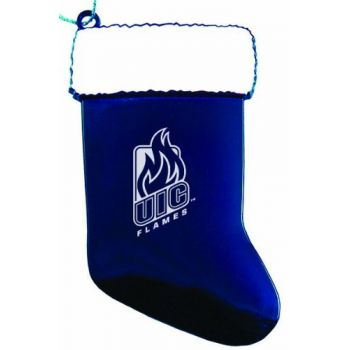 University of Illinois at Chicago - Chirstmas Holiday Stocking Ornament - Blue