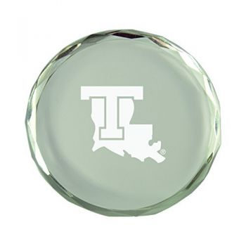 Louisiana Tech University-Crystal Paper Weight