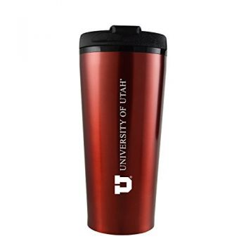 University of Utah-16 oz. Travel Mug Tumbler-Red