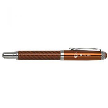 Carbon Fiber Rollerball Pen-I love my Akita-Orange