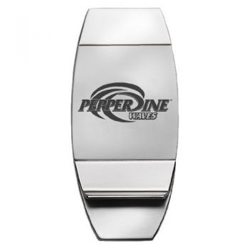 Pepperdine University - Two-Toned Money Clip - Silver