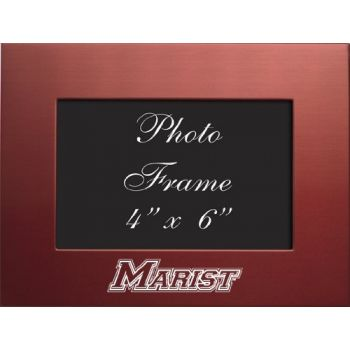 Marist College - 4x6 Brushed Metal Picture Frame - Red