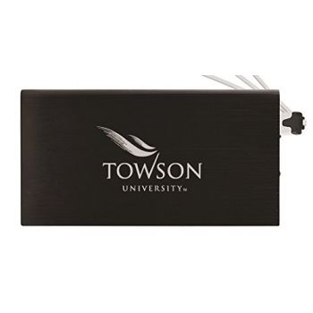 8000 mAh Portable Cell Phone Charger-Towson University -Black