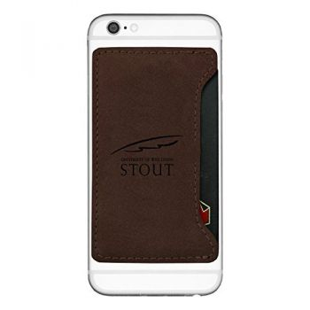 University of Wisconsin-Stout-Cell Phone Card Holder-Brown