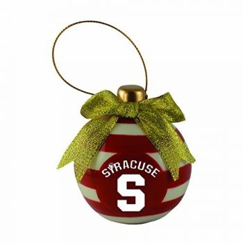 Syracuse University-Christmas Bulb Ornament