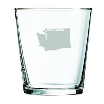 13 oz Cocktail Glass - Washington State Outline - Washington State Outline