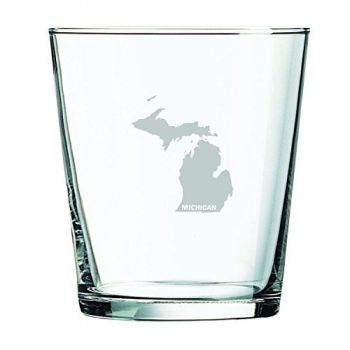 13 oz Cocktail Glass - Michigan State Outline - Michigan State Outline