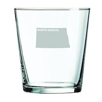 13 oz Cocktail Glass - North Dakota State Outline - North Dakota State Outline