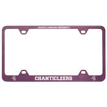 Coastal Carolina University -Metal License Plate Frame-Pink