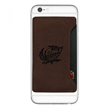 Temple University -Cell Phone Card Holder-Brown