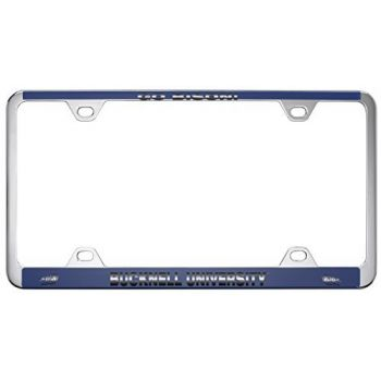 Bucknell University -Metal License Plate Frame-Blue