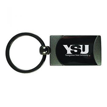 Youngstown State University -Two-Toned Gun Metal Key Tag-Gunmetal