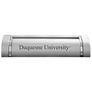 Duquesne University-Desk Business Card Holder -Silver