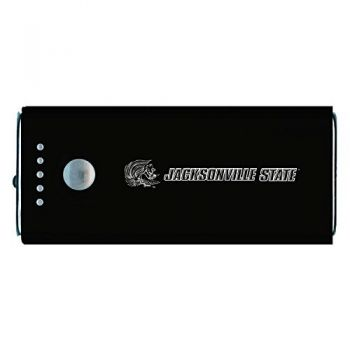 Jacksonville State University-Portable Cell Phone 5200 mAh Power Bank Charger -Black