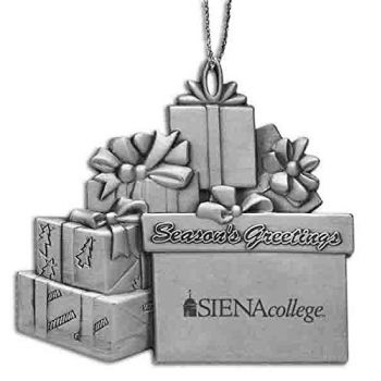 Siena College - Pewter Gift Package Ornament