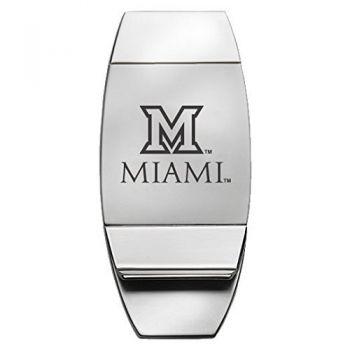 Miami University - Two-Toned Money Clip - Silver